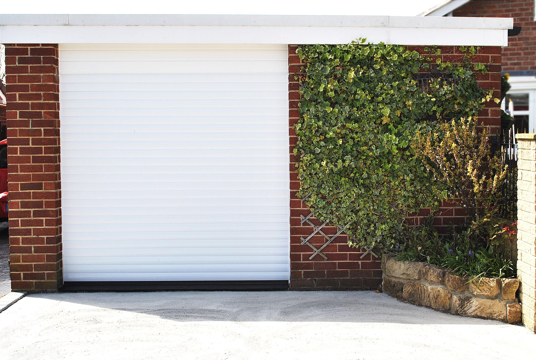 Gliderol Garage Doors >> Beautiful White Gliderol Garage Door Space Saving Rolls Up