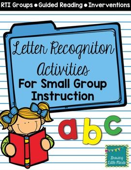 Letter Recognition Activities For InterventionRti  Kindergarten