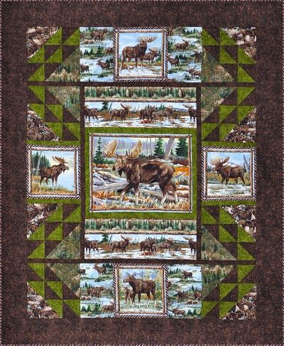 Moose Quilt Panels Patterns | Quilts with cross stitch | Pinterest ... : quilt panel kits - Adamdwight.com