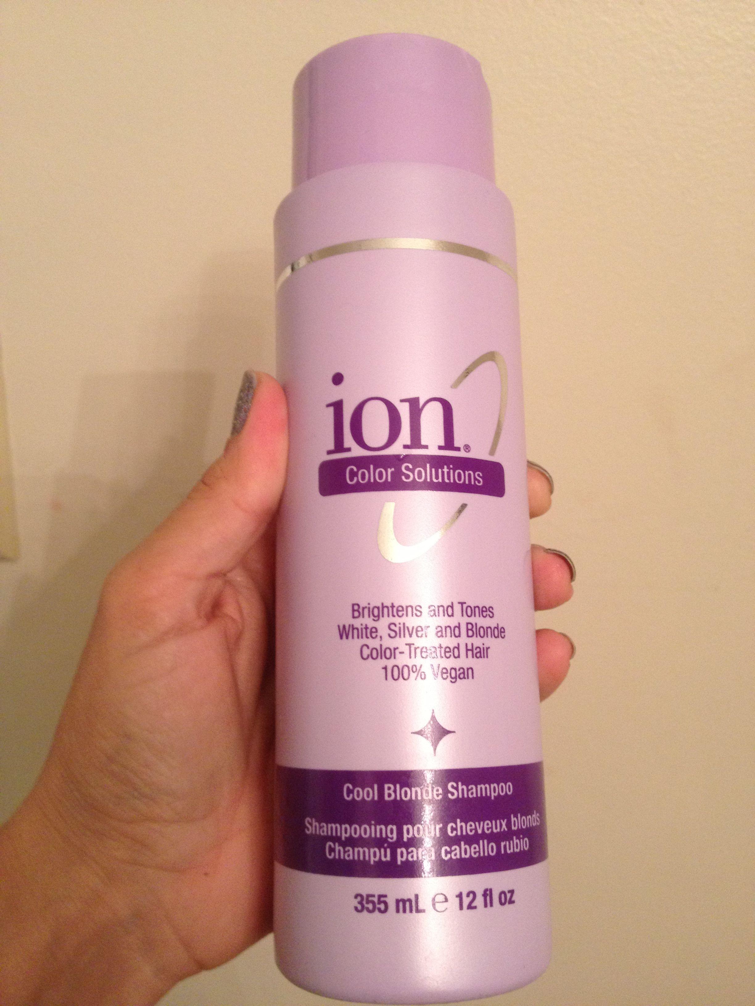 purple pigmented shampoo, use daily to brighten lighten ...
