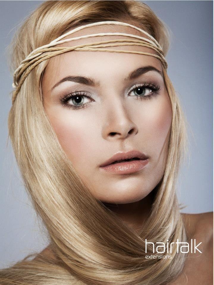 Hair talk extensions headband
