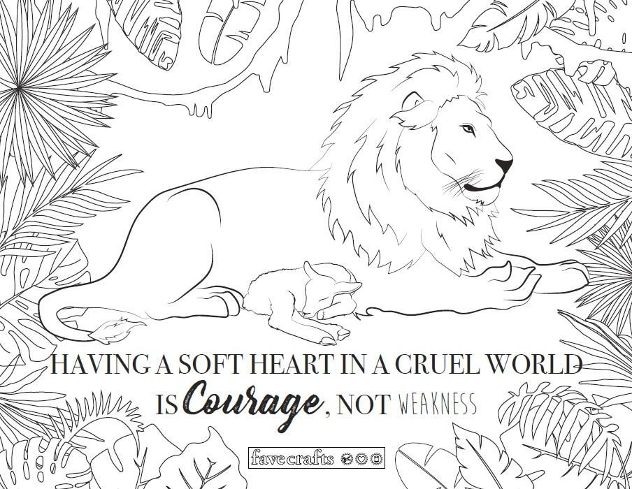 Lamb And Lion Coloring Page Lion Coloring Pages Adult Coloring
