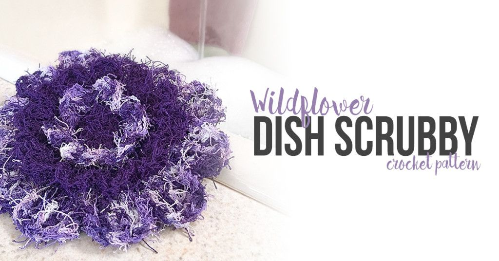 Wildflower Dish Scrubby | Pinterest