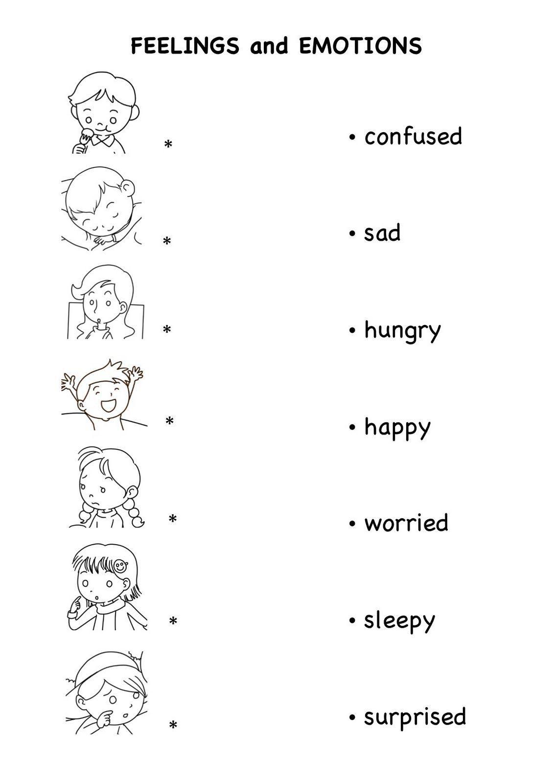 Feelings Worksheets For Kindergarten N N