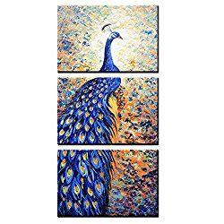 allthingspeacock - Peacock Canvas Wall Art (30X60') $81.99
