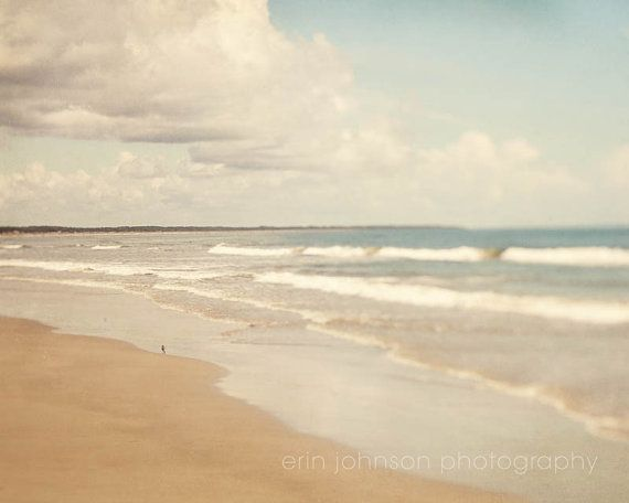Beach Photography Berland Island Georgia Blue Decor Atlantic