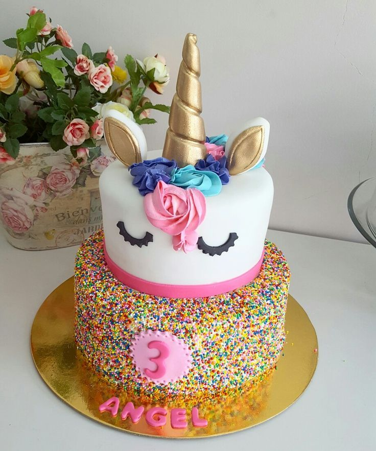 2 Tier Unicorn Cake Girl Birthday Cakes Diy