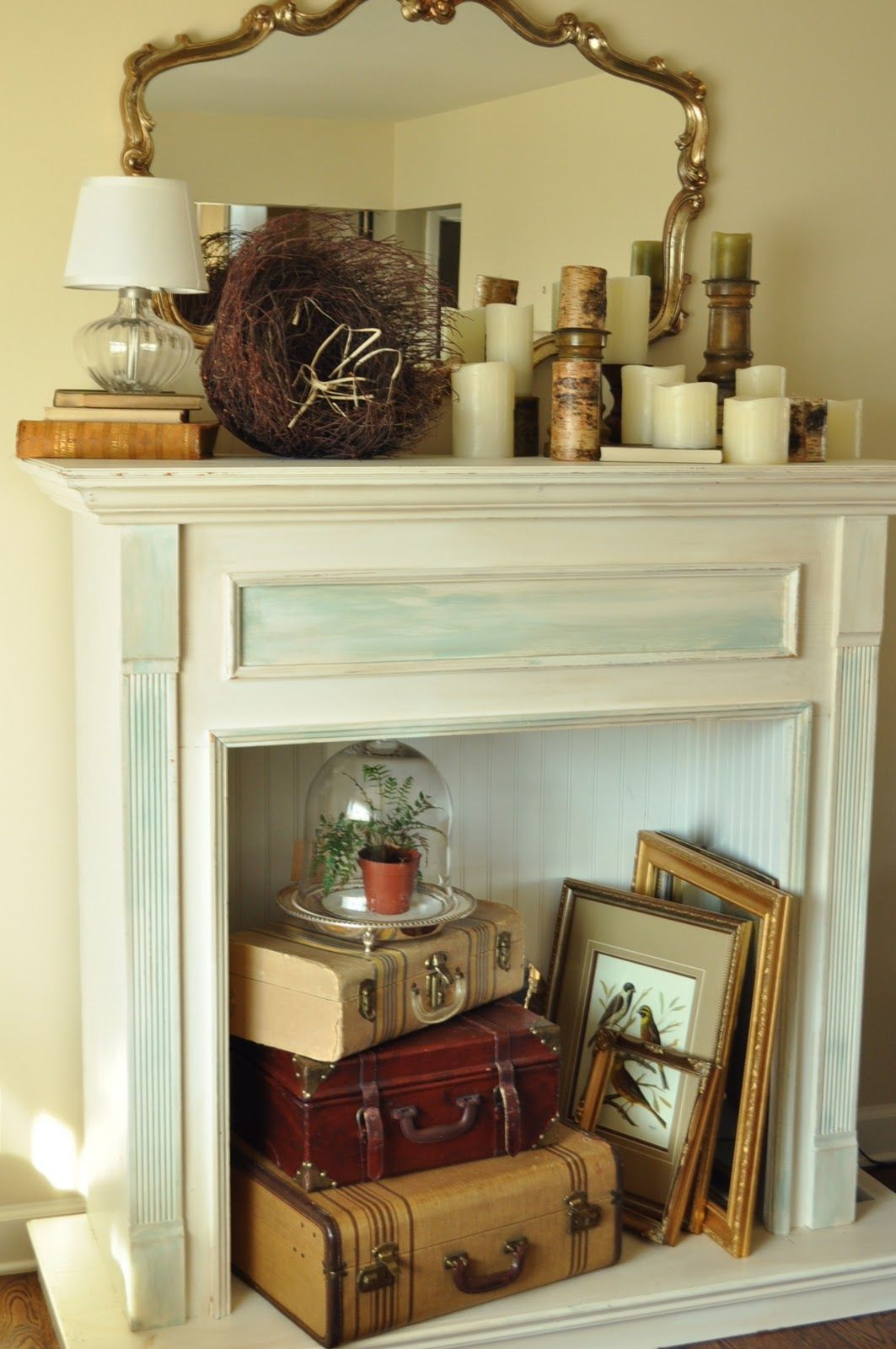 Decorate a non working fireplace Mantel Pinterest Faux