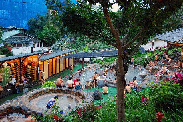 beitou hot springs taipei taiwan world map travel hot springs rh pinterest com