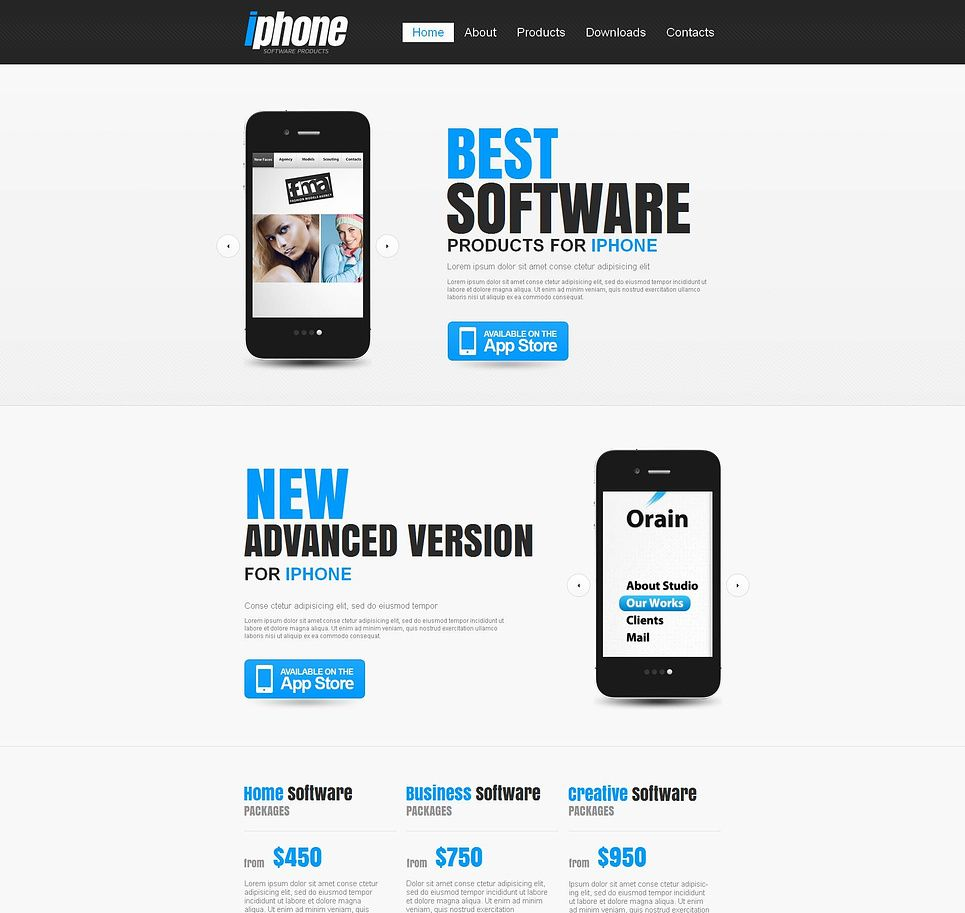 Software Store Moto CMS HTML Template 46405 Html