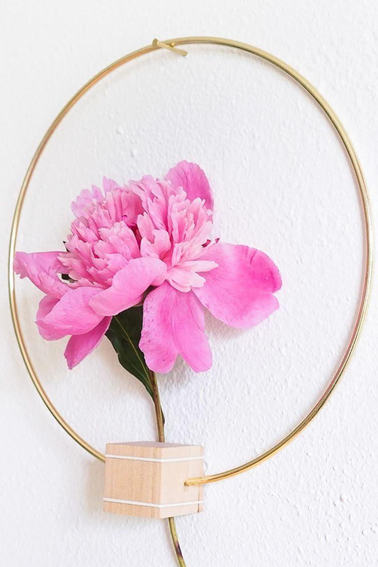 Diy minimalist flower wall hang minimalist walls and flower