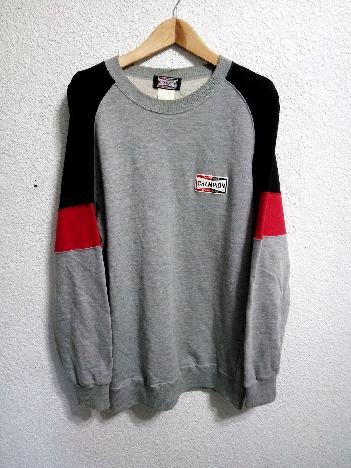 9005b91bf Sale Vintage Champion Spark Plug Sweatshirt Grey Colour by  GoShopVintageStore on Etsy