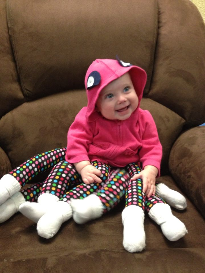 Homemade Halloween octopus baby costume. Attach legs with snaps to pair of leggings. Stuff legs with polyfill. Buy 4 pairs of matching socks.  sc 1 st  Pinterest & Homemade Halloween octopus baby costume. Attach legs with snaps to ...