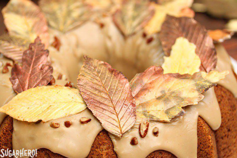 Cinnamon Swirl Pumpkin Pound Cake | From SugarHero.com