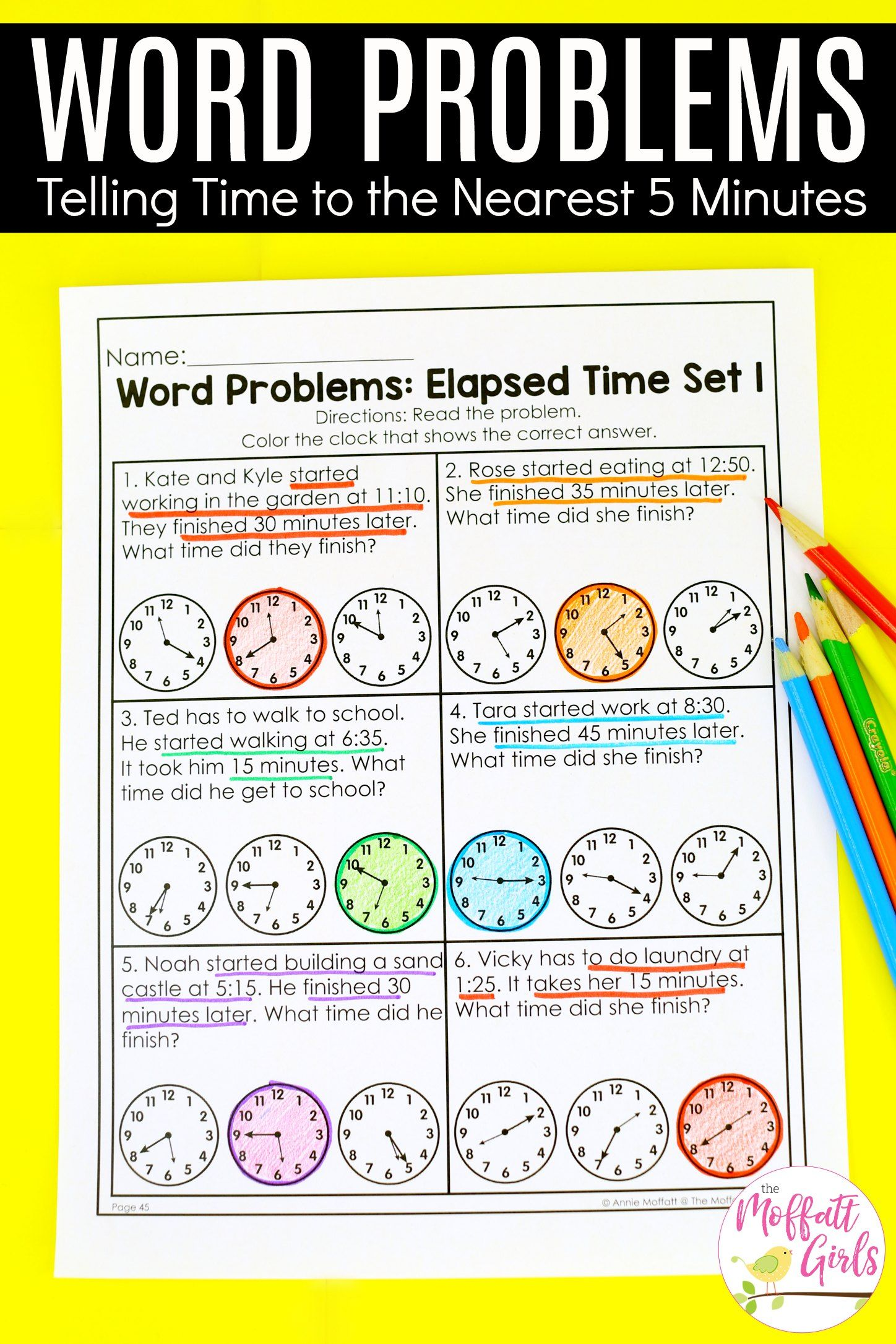 Second Grade Math Telling Time In