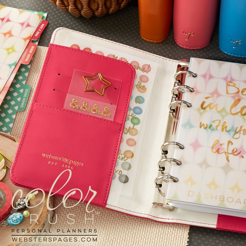 Color Crush Personal Planner - Pink