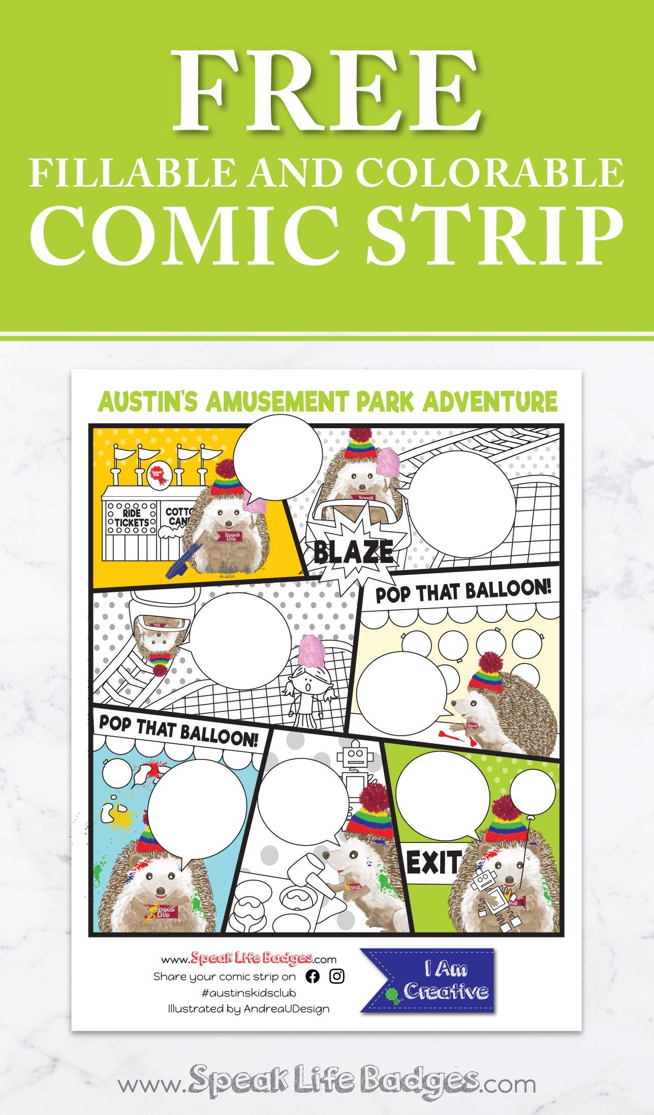 Free Comic Strip From Speak Life Badges In