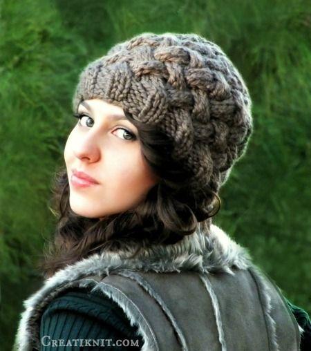 Basket Weave Hat Beanie Knitting Pattern   Gorros para dama, Dos ...
