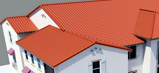 Creating Complex Roofs in Revit 2014: The default method of