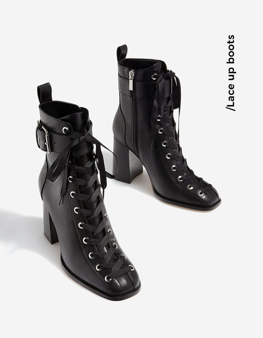 0df4d5c98667 Lace-up high heel ankle boots - Socks