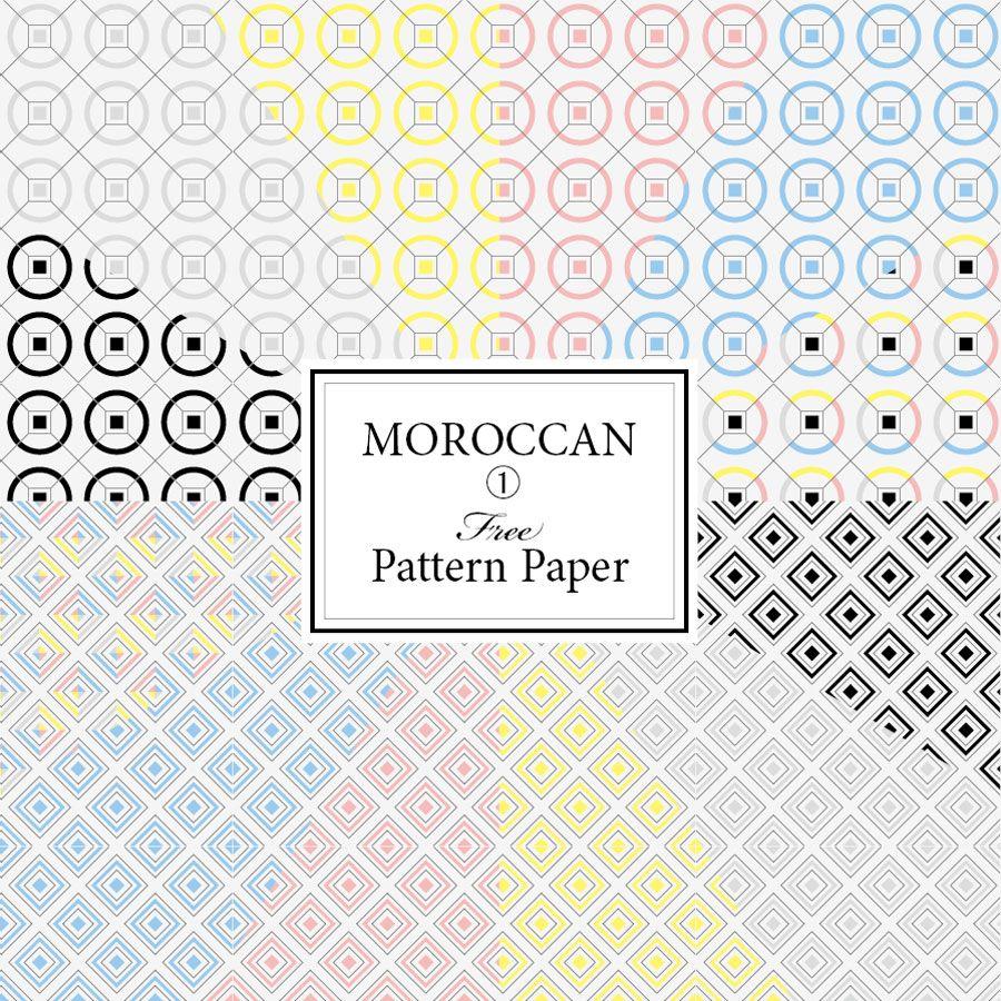 モロッカン柄 ラッピングペーパー無料印刷 おしゃれな素材ダウンロード ゼリージュタイル柄の包装紙 ラッピングペーパー 包装紙 ラッピング