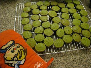 green tea sable cookies