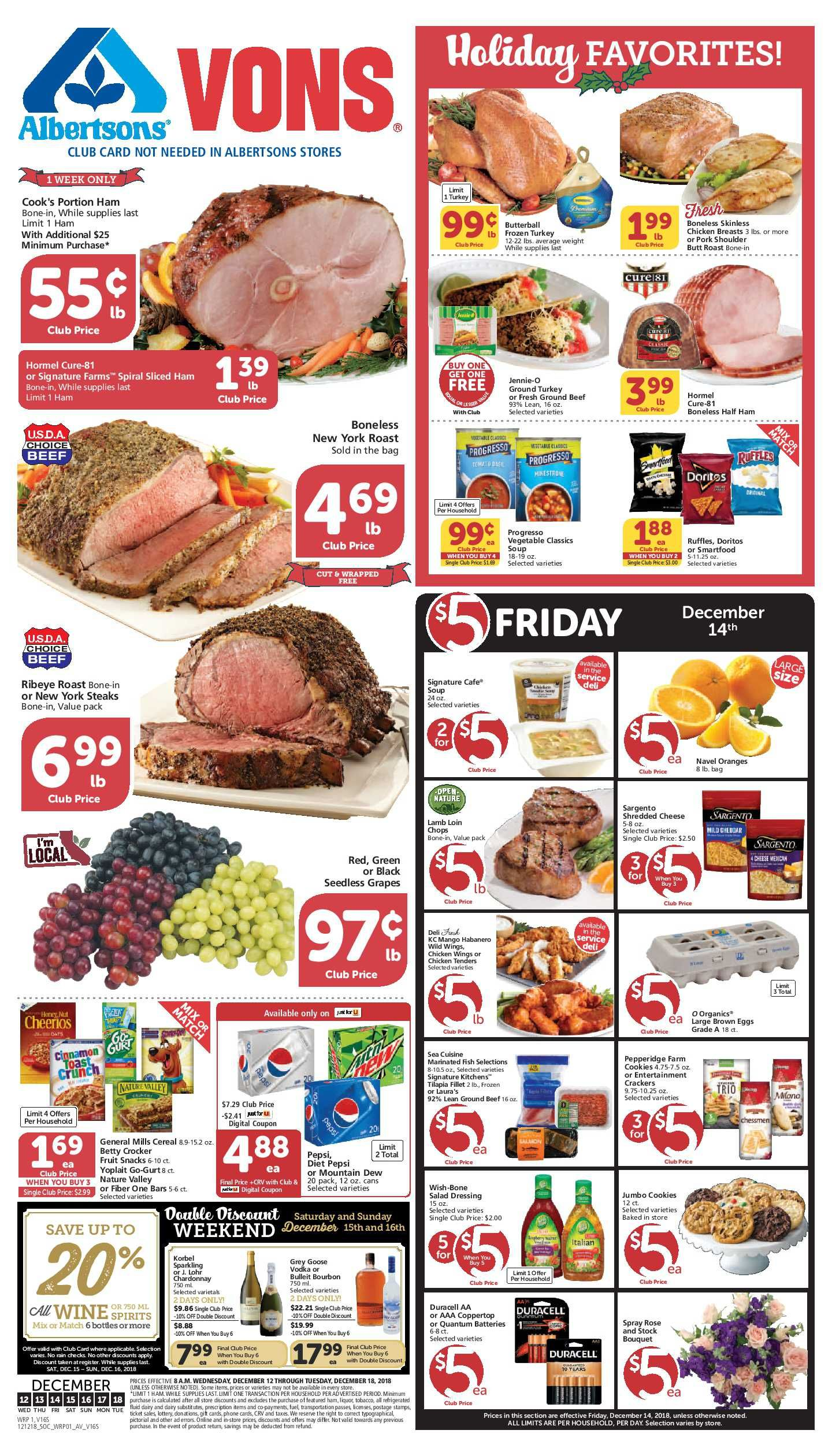 Vons Weekly Ad Flyer 02/26/20 03/03/20 Weekly ads
