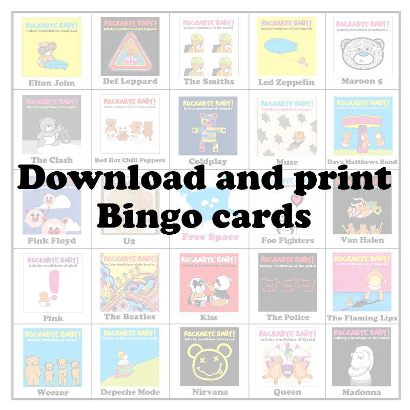 rbbingodownloadandprint Rockabye baby, Baby bingo, Bingo