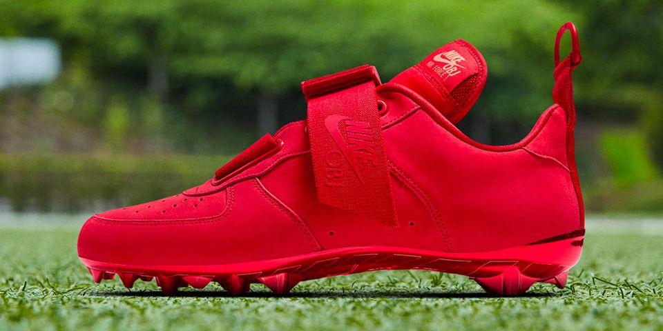 Obj Nike Air Force 1 Utility Cleat Red Custom Football Cleats Nike Air Force Nike