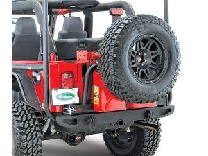 Body Armor 59 Rear Bumper With Swing Away Tire Carrier Body