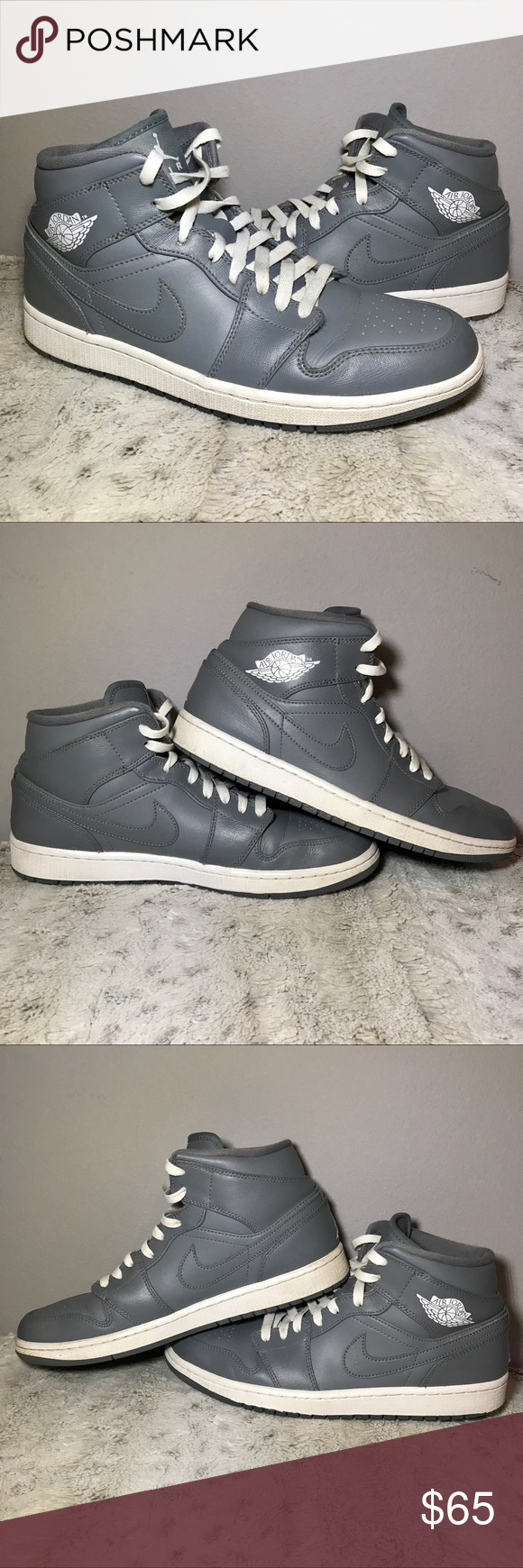 ec32c2f63ea5 🆕Air Jordan 1 Mid Retro size 10 Cool Grey  White 🆕Air Jordan 1 Mid ...