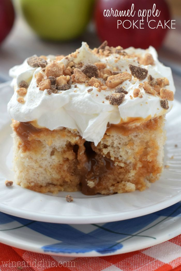 caramel apple poke cake | recipe | apple poke cake, poke cakes and