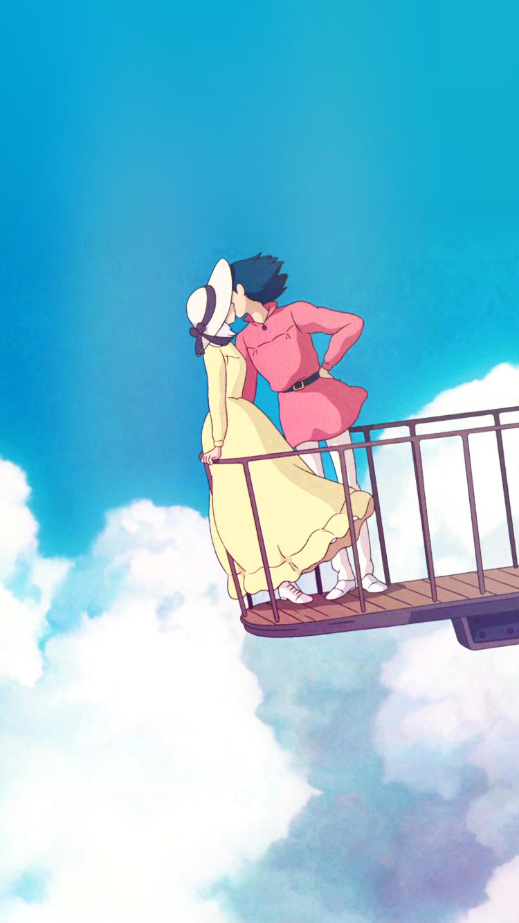 Howl Sophie Iphone 6 Wallpapers In 2020 Studio Ghibli