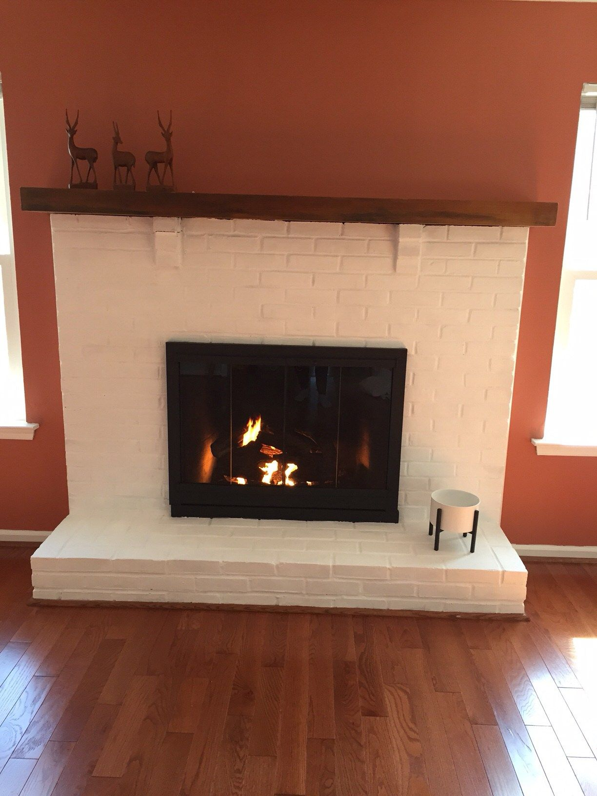 Hi To Create A Perfect Painted Fireplace  The Bungalow