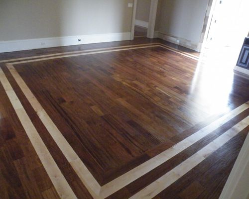 Brazilian cherry floors with maple borders m s c s inc for Hardwood floor designs borders