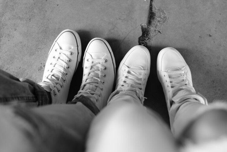 White Converse White Adidas
