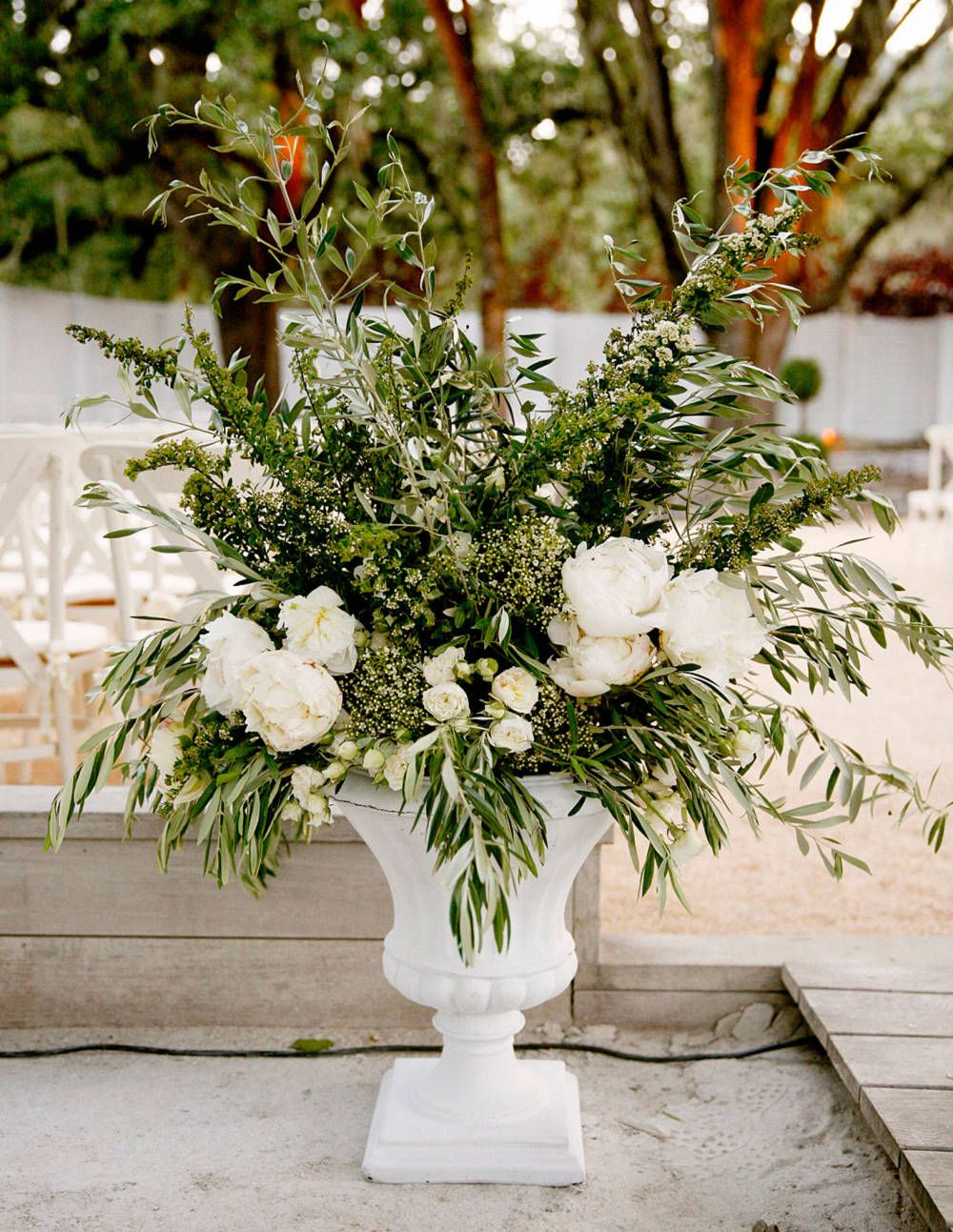 A wedding in napa county saint helena floral for Floral arrangements with branches