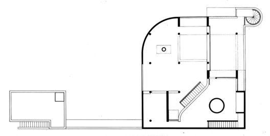 AD Classics: Saltzman House,Upper Level Floor Plan