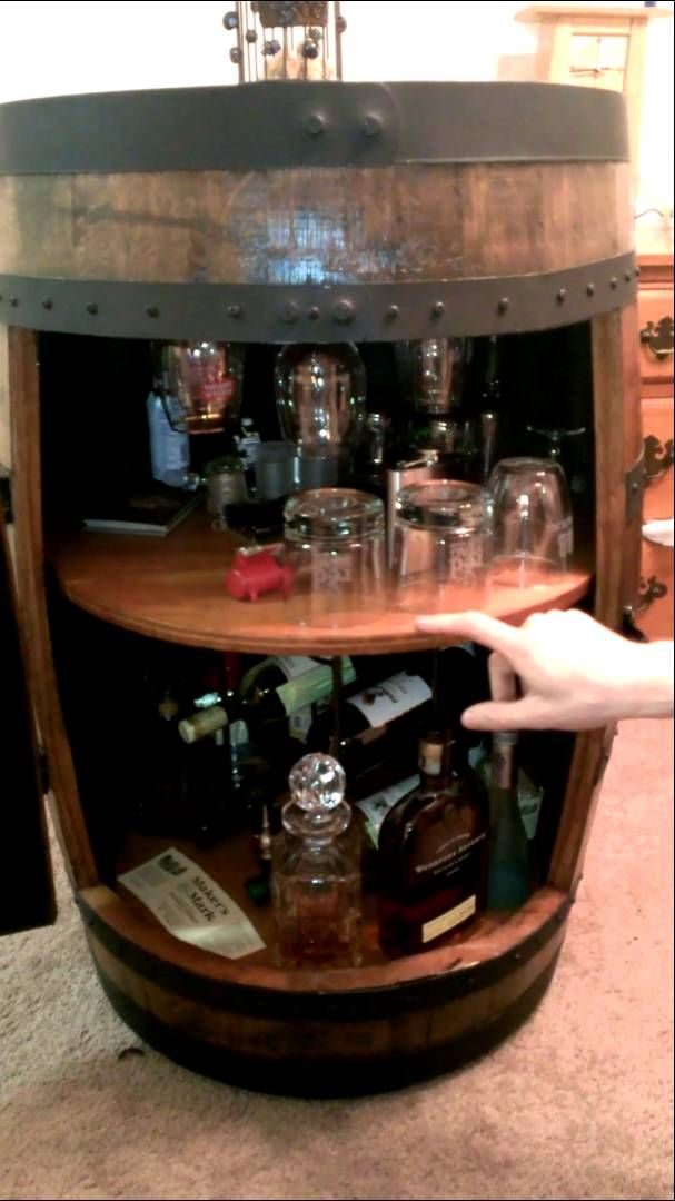 Superbe I Acquired A Jim Beam Whiskey Barrel U0026 Transformed It Into A Liquor Cabinet.