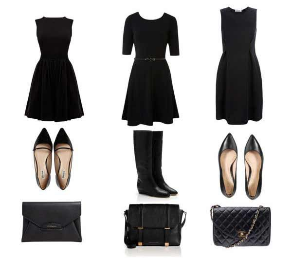 Keep It Simple These 3 Outfits Consist Of A Black Dress Black Shoes And A Black Purse Really All You Need To Nai Funeral Outfit Funeral Attire Funeral Wear