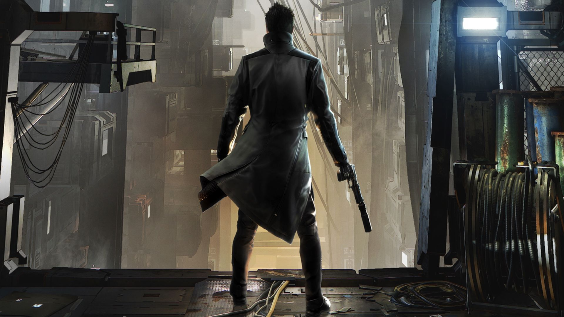 Adam Jensen In Deus Ex Mankind Divided Wallpaper Game 1920 1080
