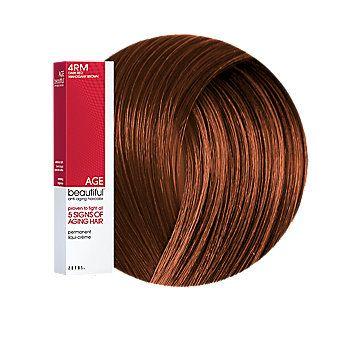 Agebeautiful Anti Aging Permanent Liqui Creme Haircolor 4rm Dark Red Mahogany Brown