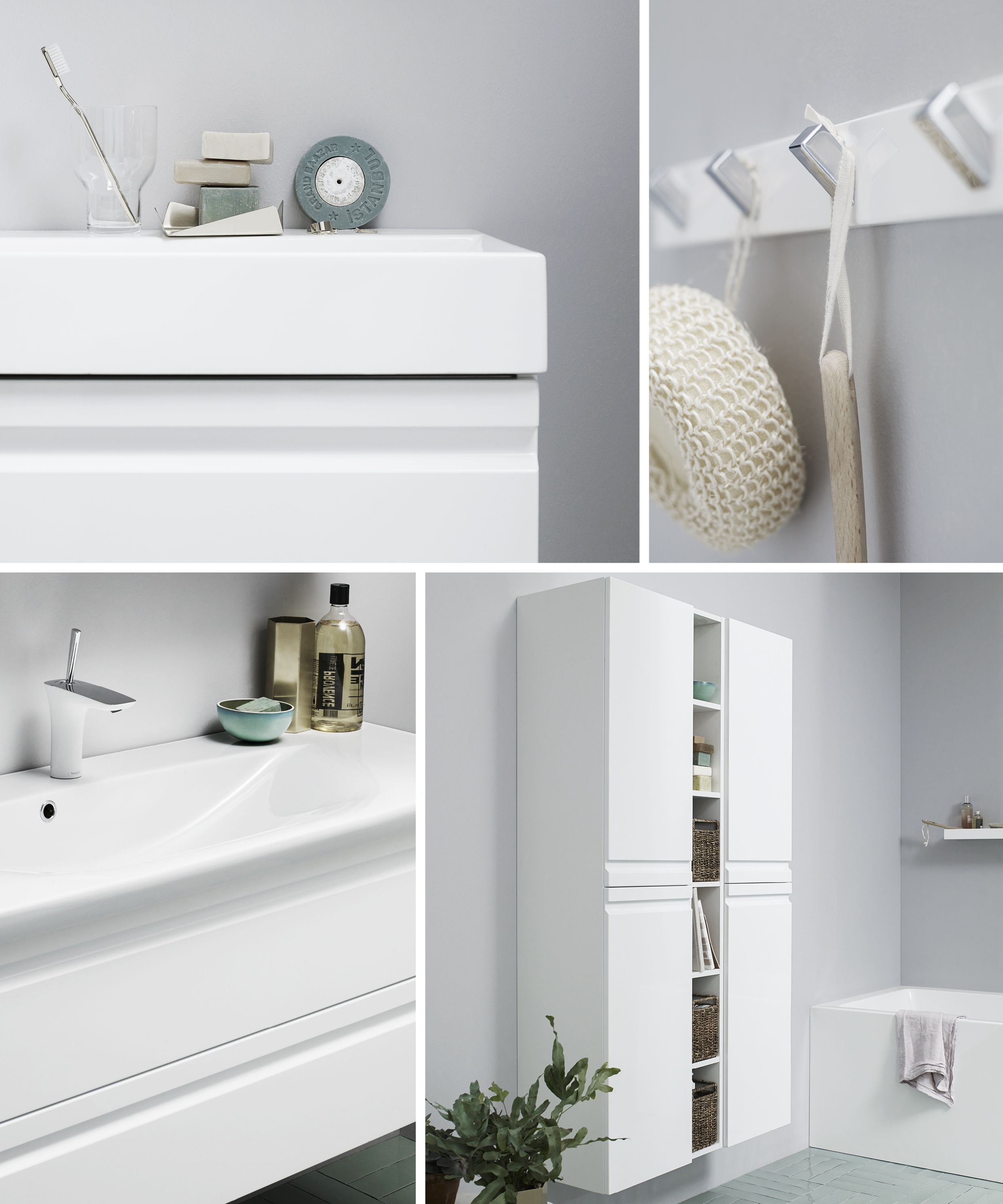 Nice white details from Luna: integrated handles, washbasin in ...
