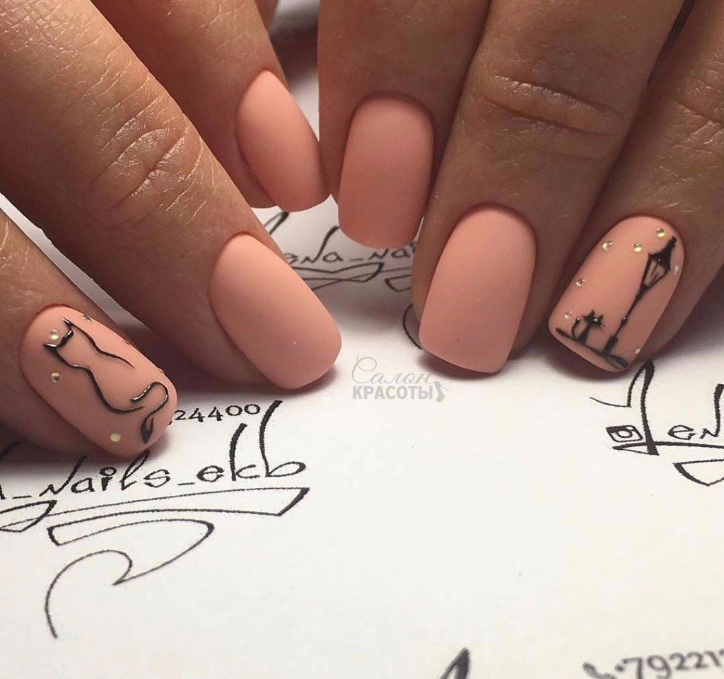 Peach silhouettes nails pinterest peach manicure and