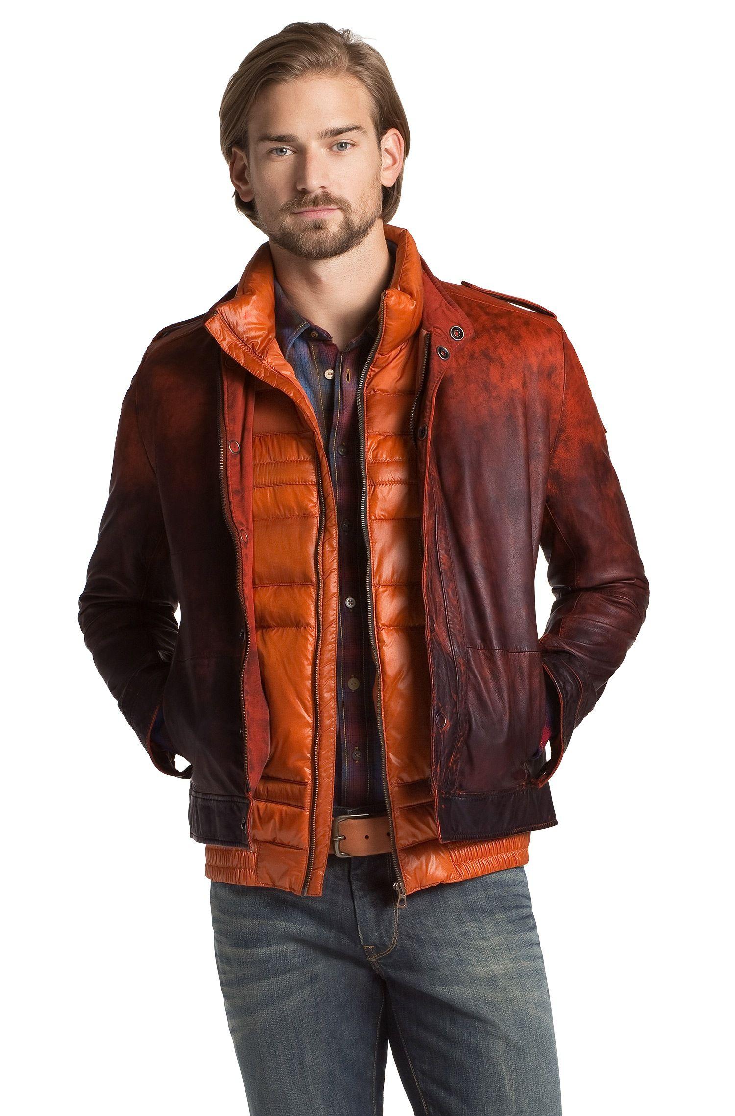 Lamb leather jacket 'Jowani' by BOSS Orange Herren mode