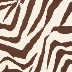 Chocolate Brown And Cream Zebra Animal Print Fabric In 2019