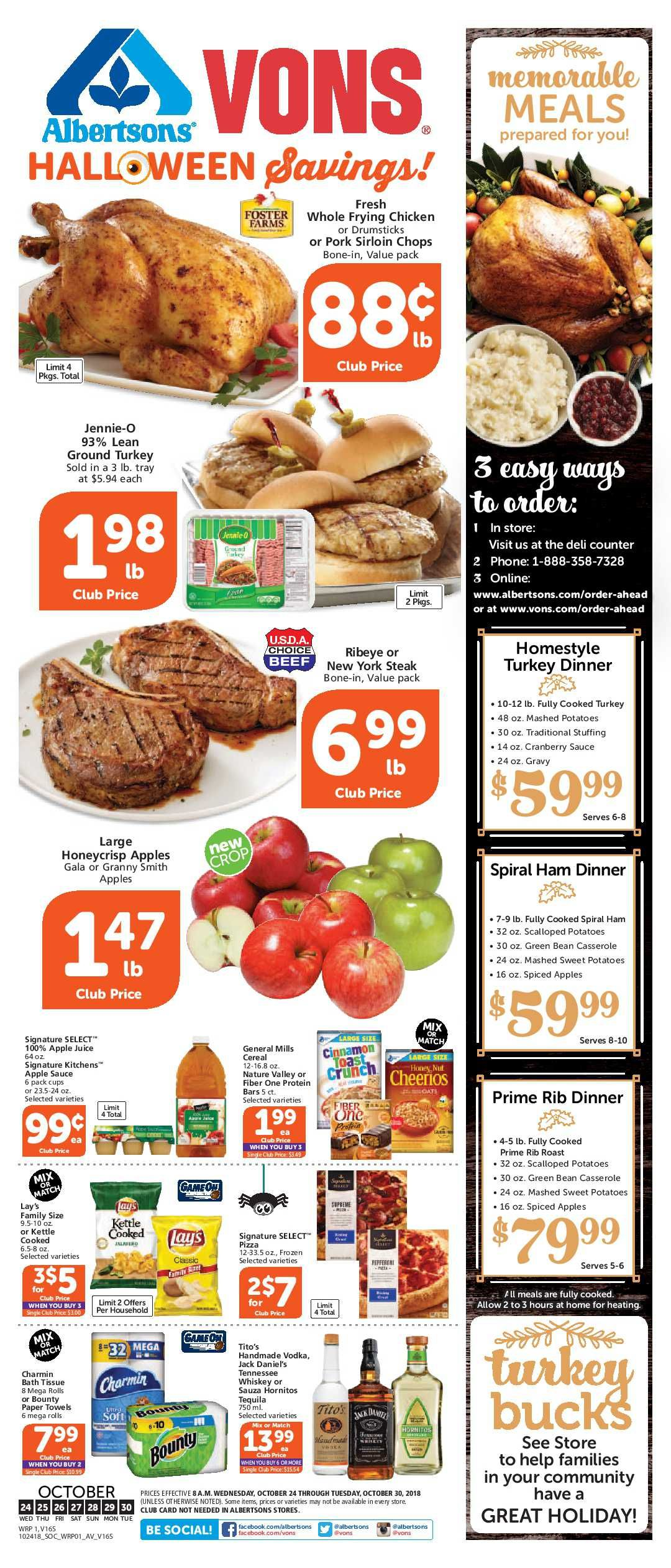 Vons Weekly Ad Flyer 03/11/20 03/17/20 Cooking dinner