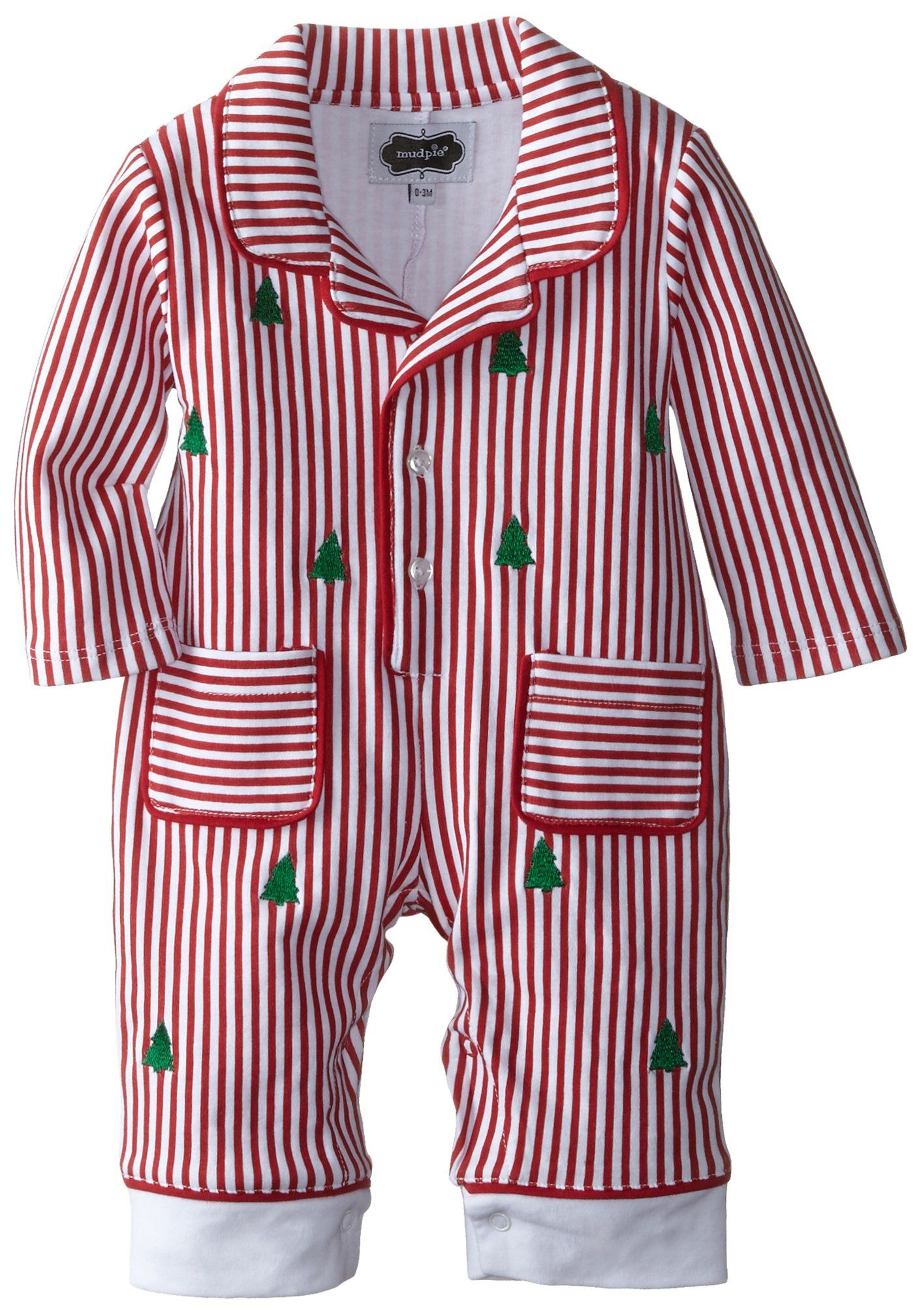 mud pie baby boys newborn night before christmas pajama red 6 9 months