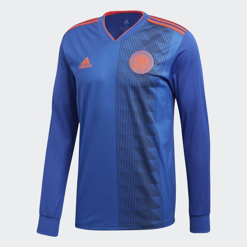 adidas Camiseta Selección Colombia Visitante - Azul  266a61da0dd81
