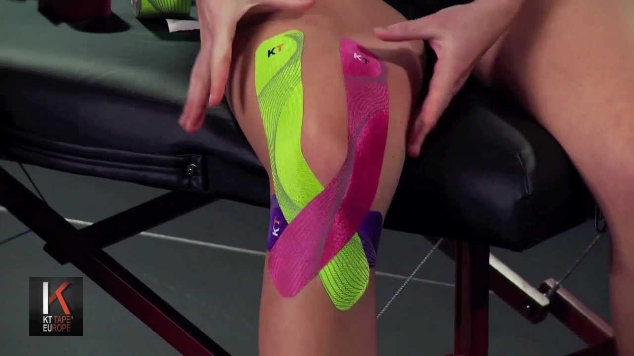 Kt tape europe full knee taping knee taping kt tape kt